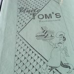 Menu cover, Uncle Tom's Restaurant     Hwy 16, Minnedosa, Manitoba R0J 1E0, Canada