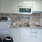 Kitchen area of the room