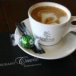 The coffee and chocolate