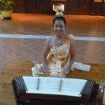 thai musician in lobby