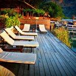 Lovely sunbathing area/ decking