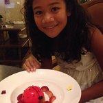 Cheese cake from Children's menu