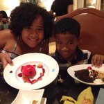 Ladybug cheese cake and S'more Sundae from Children's menu