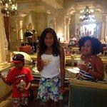 Complimentary lemonade in the lobby