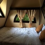 Bed in honeymoon room
