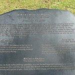 """The plaque for the sculpture """"Kaha ka 'Io me nā Makani"""""""