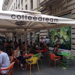 Coffee Dream-one location is on the pedestrian shopping street