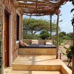 Garden veranda in front of downstairs bedroom
