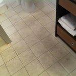 pavimento del bagno appena arrivata