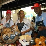 "Vanessa Smith, head of bakery, Amelia Sans-Souci, store manager, and Selby ""Black Mamba"" Ntombel"
