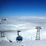 View of Mt. Titlis rotating cable car