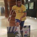 Neymar image in the lobby