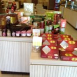 Various kinds of jams are also on sale