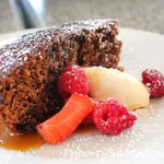 Raspberry with sticky date pudding!