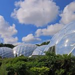 The Eden Project biomes. July 2014.