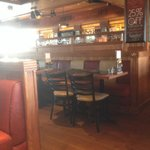 Another side of the Frankie and Bennys Restaurant,seating area