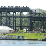 The Anderton boat lift showing full height.