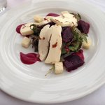 Haloumi and beetroot salad