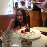My daughter with her birthday cake.