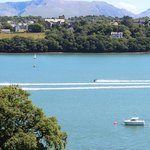 View from the Chateau towards Snowdonia and Menai Straits