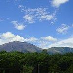 ホテルからの浅間山の写真