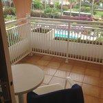 Der Balkon unseres Doppelzimmers