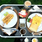 Typical delicious breakfast fare