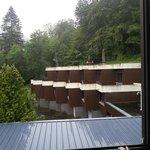 Vue du balcon de notre chambre....vraiment pas top.