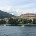 Hotel from the boat to Stresa