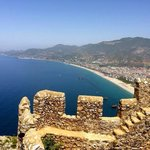 View of the harbour and Alanya town from the castle