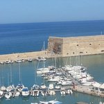A view of Heraklion's Venetian Fortress from Herbs'