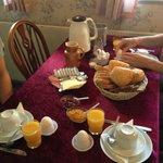 Frukost som var mycket bra.