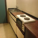 Self catered room cooking facilities