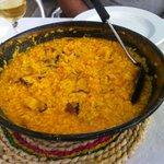 Buenísimo el arroz con pulpo y bacalao
