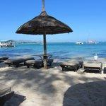Clear blue water and clean beach...