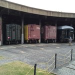 Boxcars in the roundhouse