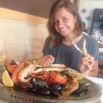 Тарелка морепродуктов с омаром!��