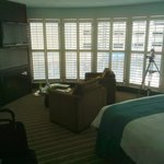 Living area. Plush