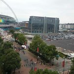 View from room (brent civic centre and wembley stadium)