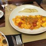 Ravioli rellenos de gorgonzola y pera