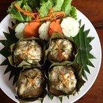 steamed fish in banana leaves Luang Prabang Style