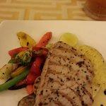 Delicious seared yellow tuna
