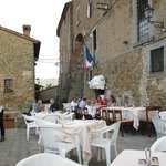 Restaurant and outside seating