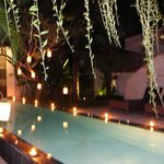 Candle Light Dinner Decoration at the pool
