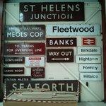 Old station signage
