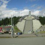 vista dalla base del trampolino