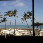 Vista desde el resturante del hotel, desayunando en la mañana.
