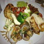buffet food plate