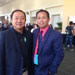 Me in the red salmon shirt with a Pastor from Thailand