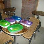 La Serena, Chile, Hostal Balmaceda. Desayuno y comedor.